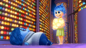 INSIDE OUT - Pictured (L-R): Sadness, Joy. ©2015 Disney•Pixar. All Rights Reserved.