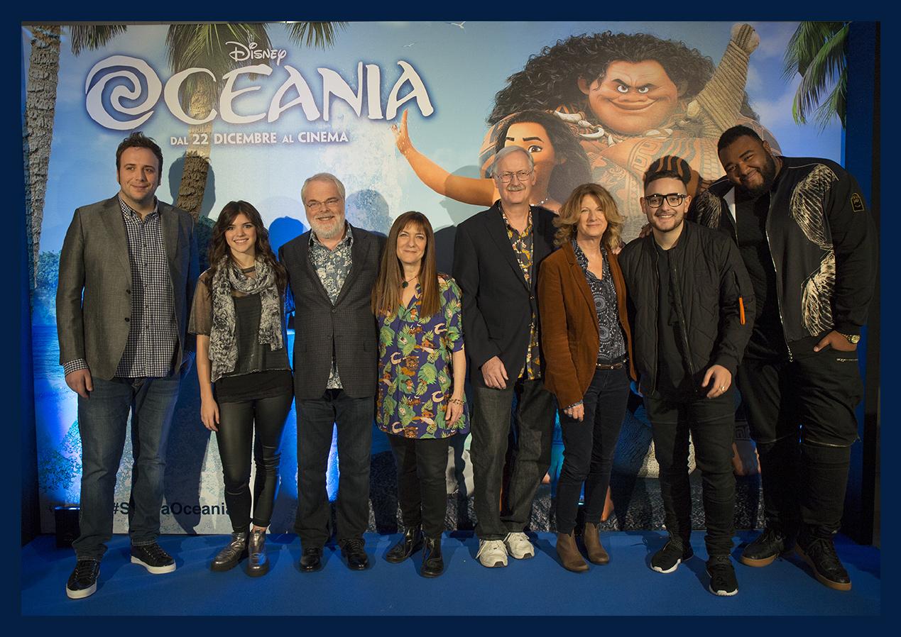Oceania: I filmamker e il voice cast italiano a Roma per presentare il film
