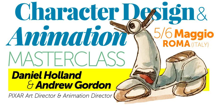 Character Design & Animation Masterclass con gli artisti Pixar in Italia!