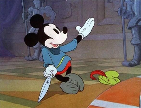 """Cartone di Topolino """"L'Ammazza Sette"""" / """"Il Piccolo Sarto Coraggioso"""""""