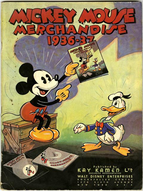 Catalogo del merchandise della Disney realizzato da Kay Kamen