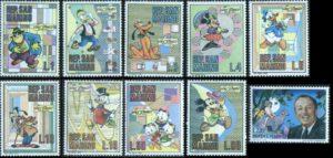 curiosità topolino - francobolli san marino 1970