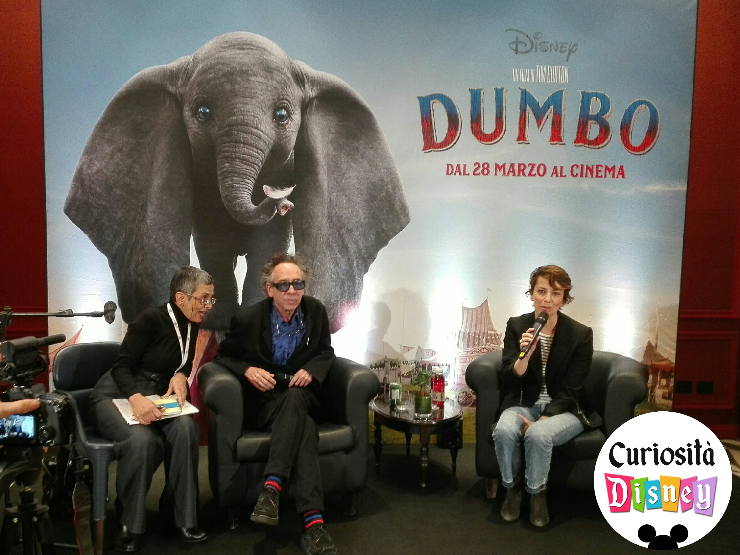 tim burton dumbo conferenza stampa